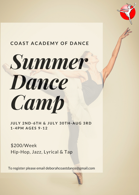 Summer Dance Camp ages 9-12