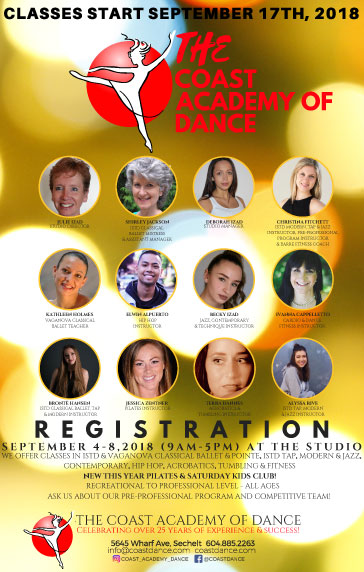 Coast Academy of Dance Registration