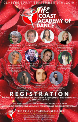 Coast Academy of Dance Registration for 2019/2020 session
