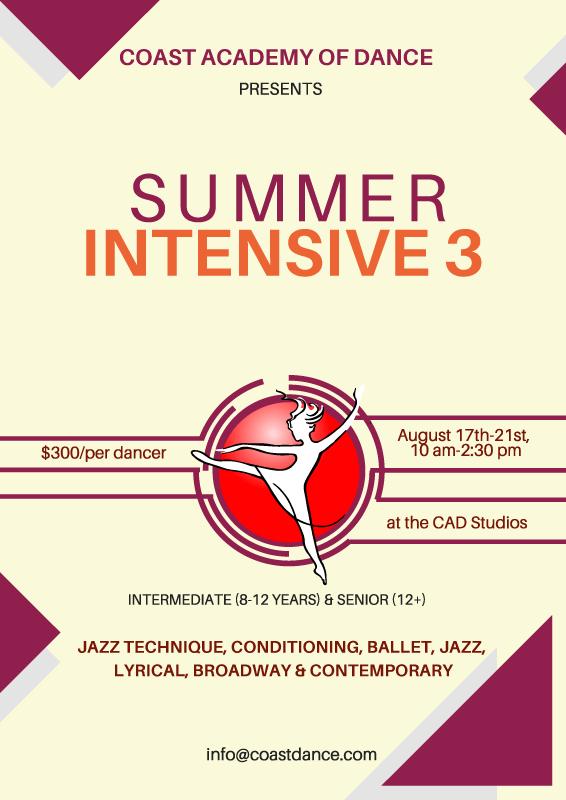 Summer Intensive 3
